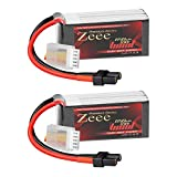 Zeee Premium Series 14.8V 4S Lipo Battery 100C 650mAh with XT30 Plug for FPV Racing Drone Quadcopter Helicopter Airplane RC Boat RC Car RC Models(2 Pack)