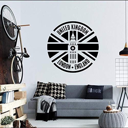 Big Ben Clock Logo Sign Reino Unido Reino Unido Londres Inglaterra Vinilo Etiqueta de la pared Etiqueta del coche Dormitorio Sala de estar Oficina Studio Club Decoración para el hogar Mural