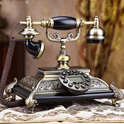 Telefon, Festnetz Metall/Harz/Neuwahl Funktion/Zeigt Das Datum Und Die Uhrzeit/Mit Moderner Elektronischer Klingel/Mit Rufnummernanzeige