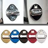 4枚セット 5色選択可 ホンダ Honda ストライカー カバー ドアロック カバー メッキ 高品質 鏡面ステンレススト ホンダ全車種対応 ホンダ社外品 (レッド)