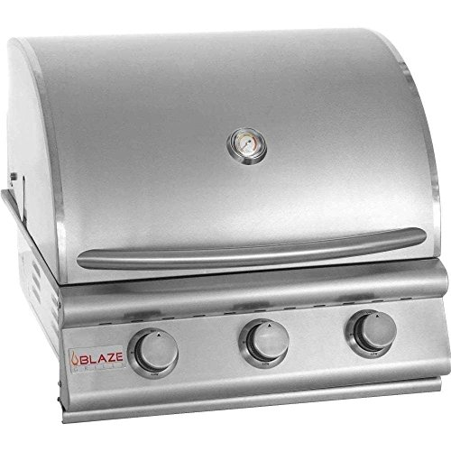 """25"""" 3-Burner Built-In Gas Grill Gas Type: Propane Grills Propane"""