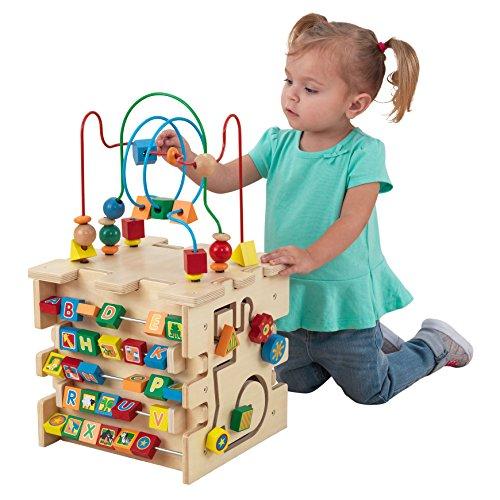 Kidkraft Deluxe Activity Cube Juguete de laberinto de cuentas para bebés,...