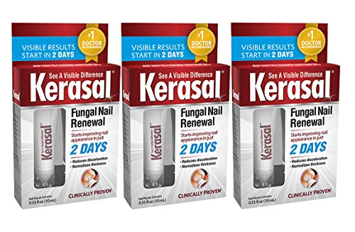 Kerasal Fungal Nail Renewal Treatment, 0.33 oz (10 ml) Each (Value Pack of 3)