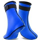 QUACOWW - Calzini sportivi in neoprene da 3 mm, per donne e uomini, con pinne antiscivolo, per muta termica, per sport acquatici e snorkeling, adatti al numero di metri