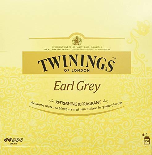 Twinings Earl Grey 400 Pack, 4 Schachteln à 200g mit je 100 Teebeuteln
