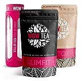 ✔ DIMAGRANTE EFFICACI- Grazie alla rara combinazione di erbe raccolte da tutto il mondo, WOWTEA SlimFit può aiutare con la gestione del peso e a mantenere un corpo in forma in modo naturale. ✔ DISINTOSSICAZIONE INTESTINALE - WOWTEA - Tè detox è reali...