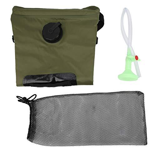 VGEBY Bolsa de Ducha con calefacción Solar 20L con Boquilla de Ducha para Ducha de Camping de Viaje al Aire Libre