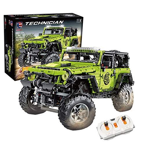 ZJLA Technic, modello di auto con telecomando, 2343 pezzi, 2,4 G, Rc, fuoristrada, 4 x 4, modello di costruzione auto, giocattoli personalizzati compatibili con lego Technic (come mostrato)