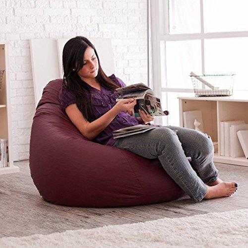 Gold Medal Bean Bags Fashion Large Vinyl Teardrop Bean Bag Chair