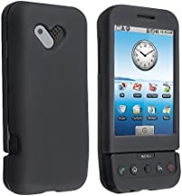HTC T-Mobile G1 Google Cell Phone Black Rubberize Textured Snap-On Case Cover