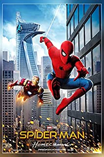 PosterDaddy Rare Thick Spider-Man: Homecoming Movie 2017 Marvel Poster Print 12 x 18 inch(Multicolor)