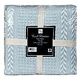 Excel Hometex 100% Cotton Throw Blanket Handloom Batik (50 x 60 Inch Set of 2)- Luxurious Cotton Throw Blanket-Indoor - Outdoor Throw Blanket (Dusty Aqua, 50' x 60')