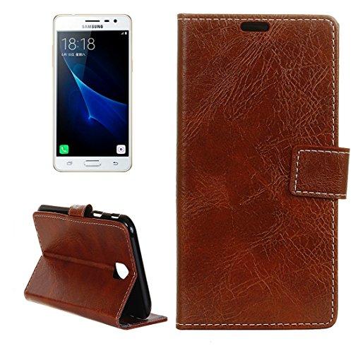 Gift geven Voor de Samsung Galaxy J3 (2017) Vintage Crazy Horse Getextureerde Horizontale Flip Leather Case met Houder en Card Slots & Portemonnees en fotolijsten, een kleine hoeveelheid aanbevolen voor de laun BRON