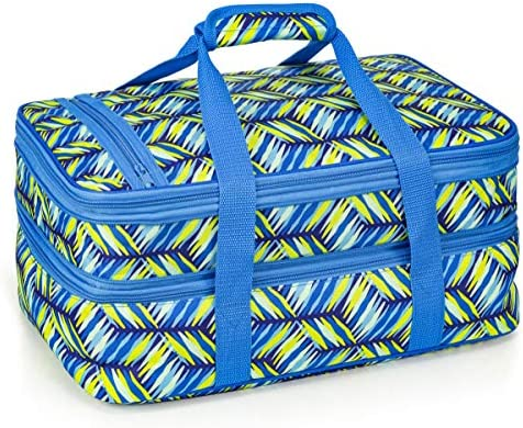VP Home Double Casserole Insulated Travel Carry Bag Geo Weave product image
