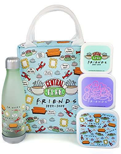 Friends Lunch Bag Serie de TV Central Perk Tote Style Juego de 5 piezas