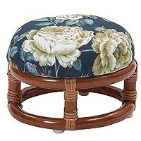 サンフラワーラタン 座椅子 ブルー 幅25×奥行き25×高さ17cm 籐正座椅子 R75HRA