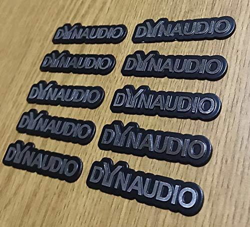 10枚セット DYNAUDIO ディナウディオ エンブレム アンプ ウーハー スピーカー ツィーター等に 加工 ワンオフ アルミ ステッカー