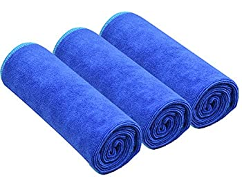 Sinland Microfiber Fast Drying Gym Towels Sports Fitness Workout Sweat Towels 3 Pack 16 inch X 32 inch