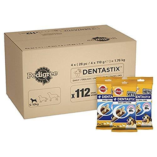 PEDIGREE DentaStix - Golosina de Cuidado Dental para Perros pequeños, con Sabor a Pollo y Ternera, contra la formación de sarro para Dientes sanos, 1 Paquete (1 x 112 Unidades)