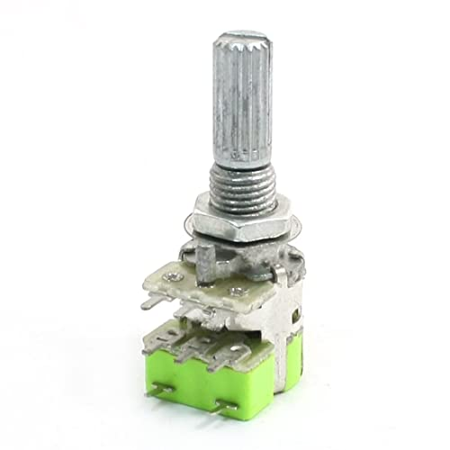 2 x 9mm Alpha C10K 10K Reverse Audio Taper Dual Potentiometer PC Mount