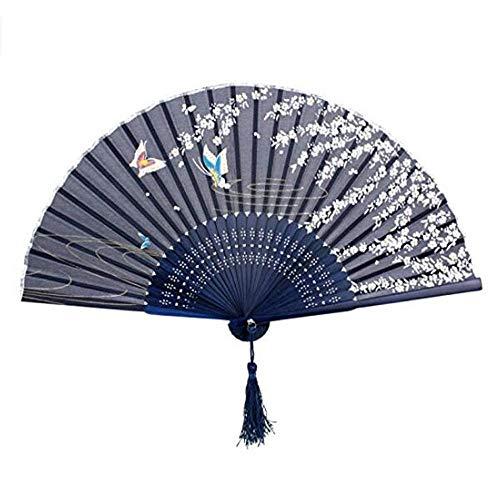 HEMFV Esculturas de decoración del hogar Damas abanico abanico abanico abanico abanico abanico abanico japonés de bambú y viento abanico abanico artesanales para bailar Cosplay Apoyos de banquete de b