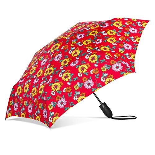 ShedRain Windjammer Vented Auto Open/Auto Close Print Compact Wind Umbrella: Sydney
