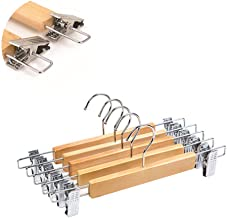 clothes airer Wall Hanger 5pcs Clothing Hanger With Trouser Clamp Domestic Coat Hanger With Stainless Steel Clip(Size:28X1...
