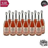 Secret'Véronique Perret' Rosé - Maison Perret - Appellation VDF Vin mousseux de qualité - Origine Savoie - Vin effervescent Doux Rosé de Savoie - Bugey - Cépage Gamay - Lot de 12x75cl