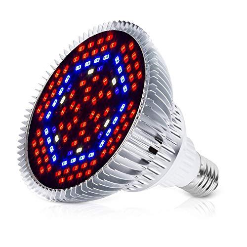 80W LED Pflanzenlampe E27 Grow Light, 120 LEDs Vollspektrum Pflanzenlicht, Sonnenähnlich Pflanzenlampen Wachstumslampe für Pflanzen Garten Gewächshaus Zimmerpflanzen