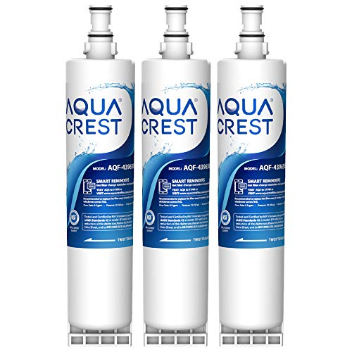 AQUA CREST 4396508 Refrigerator Water Filter, Replacement for Whirlpool 4396508, 4396510, Filter 5, 46-9010, EDR5RXD1, PUR W10186668, NLC240V, Pack of 3