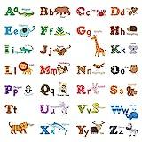 DECOWALL アルファベットと動物 ウォール ステッカー デコ (大) DA-1308L