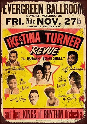 IKE & Tina Turner - Póster de concierto (3 unidades, papel de 29 x 42 cm)