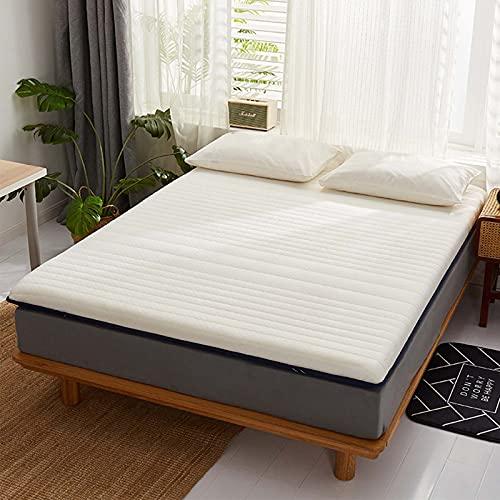 BeAUZQ El colchón de Espuma de Memoria de látex Natural tailandesa de 9cm / Memoria antibacteriana y Anti-ácaro rebotes Lentamente, no se derrumba o deforma,A1,120 * 200cm