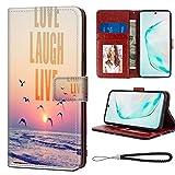 Love Live Laugh Wallet Case Fit Samsung Galaxy Note 10 [6.3'] Flap