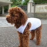 2018 Pet Clothes Dog Clothing Blank T-Shirt Tanks Top Vests for Small Middle Large Size Dogs 100% Cotton Dog Summer Vest Classic (XL, White)