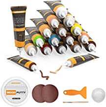 NADAMOO Floor and Furniture Repair Kit 18 Colors with Wood Filler Putty, Wood Filler Stain Touch Up Scratch Hole Repair for Wall Hardwood Laminate Floor Wooden Table Door Cabinet