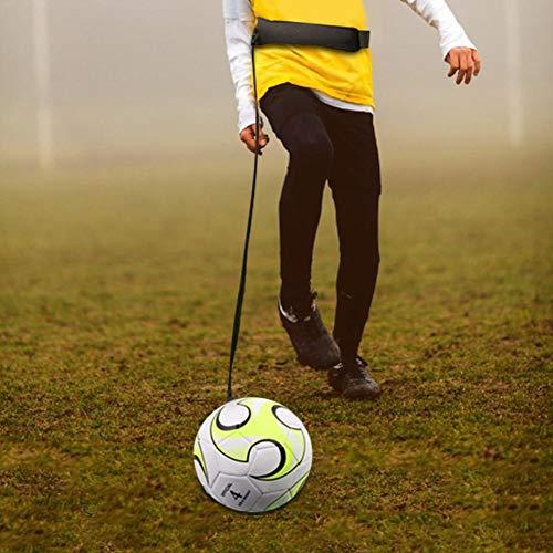 Greatideal Fußball Fußball Kick Throw Trainer Fußballtraining Set mit verstellbarem Hüftgurt Trainingshilfe für Solo-Training
