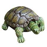 Estatua de tortuga de simulación de simulación, estatua del jardín decorativo, escultura decoración de la tortuga de simulación de la resina para el depósito de peces de la iarda del estaño