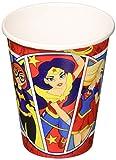 amscan DC Comics 581609 Lot de 8 gobelets en carton Motif Super Hero Girls 266 ml
