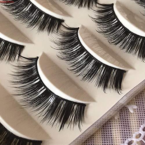 SGHR Cheveux Épais À La Main Faux Faux Faux Eyelashe Maquillage des Cils, MÉLANGE