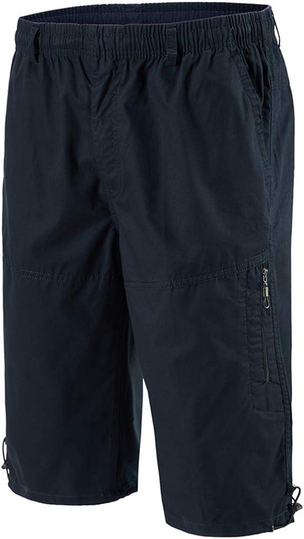 Nuomantic Men's Classic Relaxed Fit Cotton Cargo Shorts Below Knee Length 3/4 Capri Pants