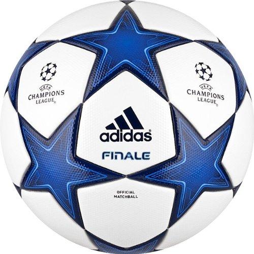 Adidas Finale 10 - Balón de fútbol, Color Blanco y Azul eléctrico
