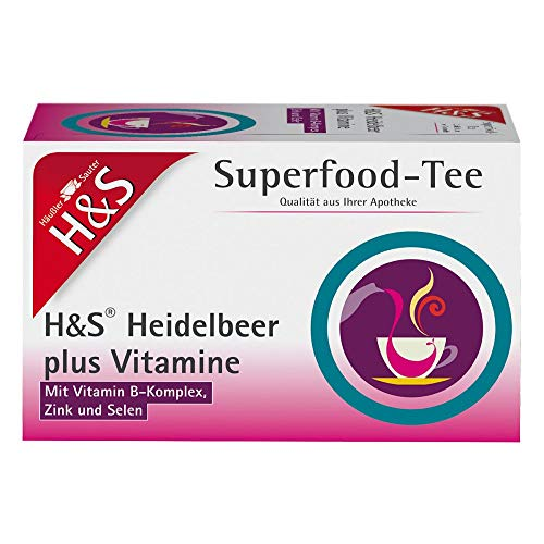 H&S Superfood-Tee Heidelbeer plus Vitamine, 20 St. Filterbeutel