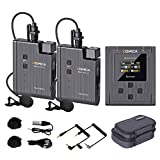 Wireless Lavalier Microphone,Comica BoomX-U2 48-Channel UHF Wireless Lapel Mic with 2 Transmitters and 1 Receiver,Lav Mic for Camera Camcorder Smartphone DSLR Interview Podcast Facebook YouTube Vlog