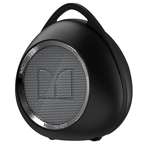 Monster Superstar Hotshot Stereo-Lautsprecher, zylindrisch schwarz Platin