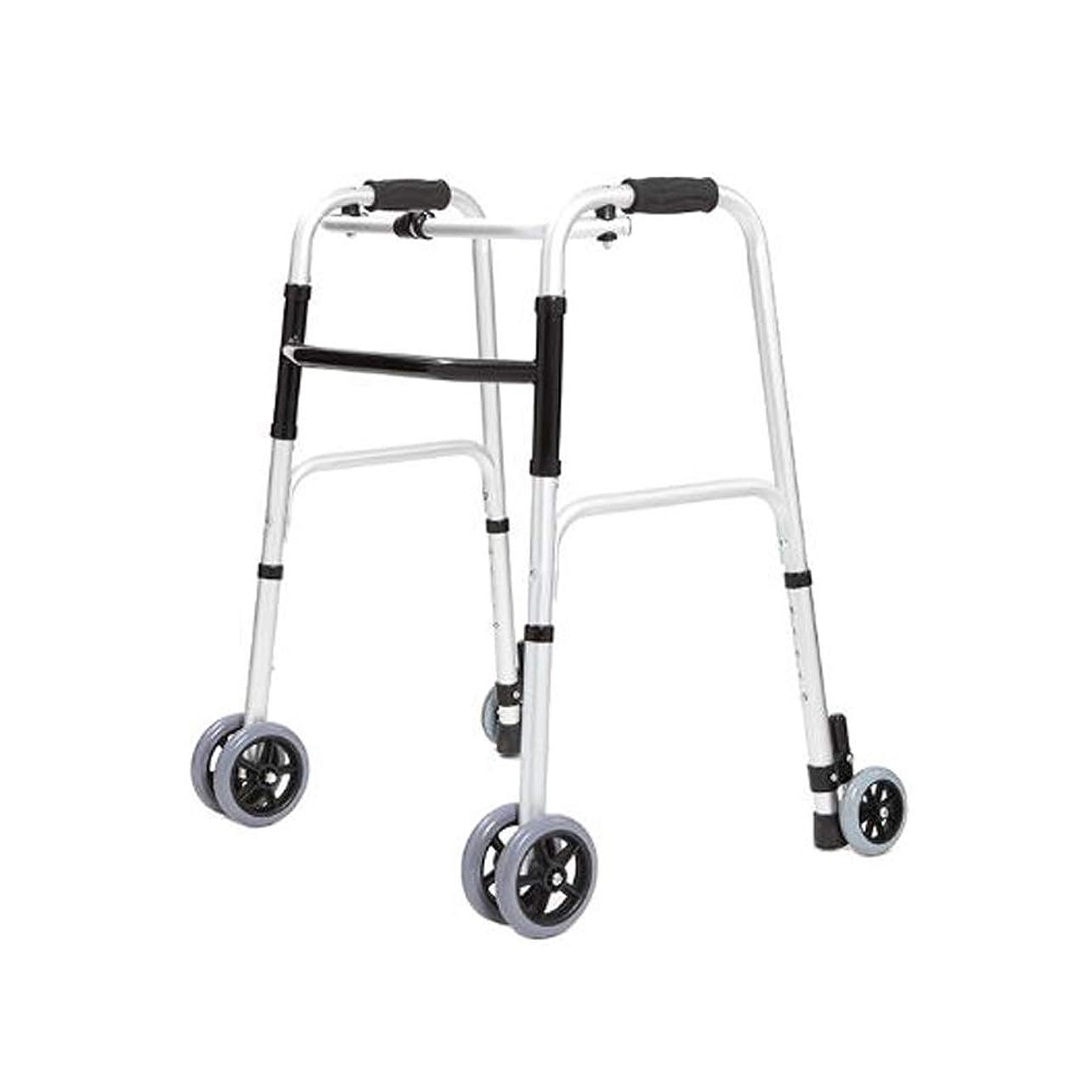 熟達ディスコ軸[ラオンアチ] 大人のための歩行器 折りたたみ 車輪型歩行器 6輪歩行車 5段の高さ調節可能 [日本語説明書付き] [海外直送品]
