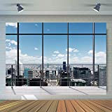WOLADA 7x5FT Video Conference Backdrop Home Decoration Indoor Live Backdrop Outdoor Landscape Backdrop Home Office Backdrops Window Backdrop 12026