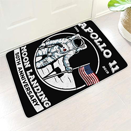 NC83 4 maten 50-jaar jubileum van de astronaute Apollo 11 welkomstmat rechthoekige vloermatten antislip design buiten salontafel gebruiken - NASA voor vloerdecoratie voorjaar vloer decoreren