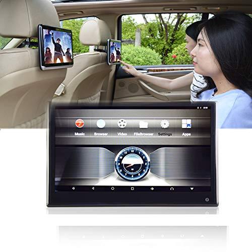 QJJML AutokopfstüTzenanzeige,Tragbares Auto 13,3-Zoll-Touchscreen Abnehmbares Multimedia-Display UnterstüTzt 1080P Video,Mit HDMI-Anschluss, UnterstüTzt Bluetooth/WiFi, 16G-Speicherplatz
