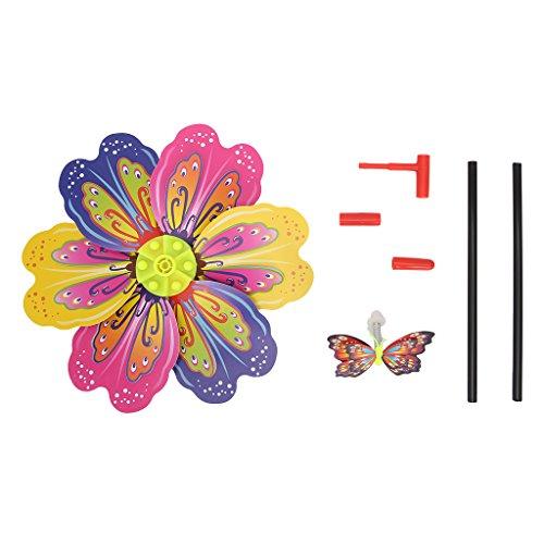 Exing Windrad Windmühlen Pinwheel Windspiel Windräder, Kunststoff 48x23cm - Gärten/Terrassen/Balkone Dekoration Spielzeug Für Kinder